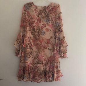 Eliza J floral dress with shell